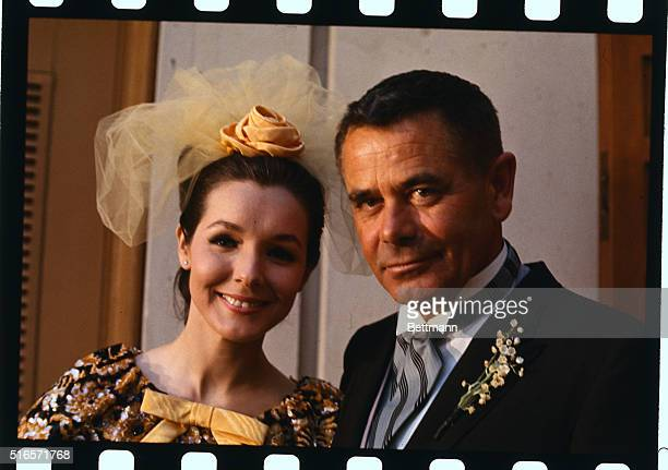 Actor Glenn Ford and actress Kathryn Hays are shown as they leave Church after they were married today March 27. The couple plan a month-long tour of...