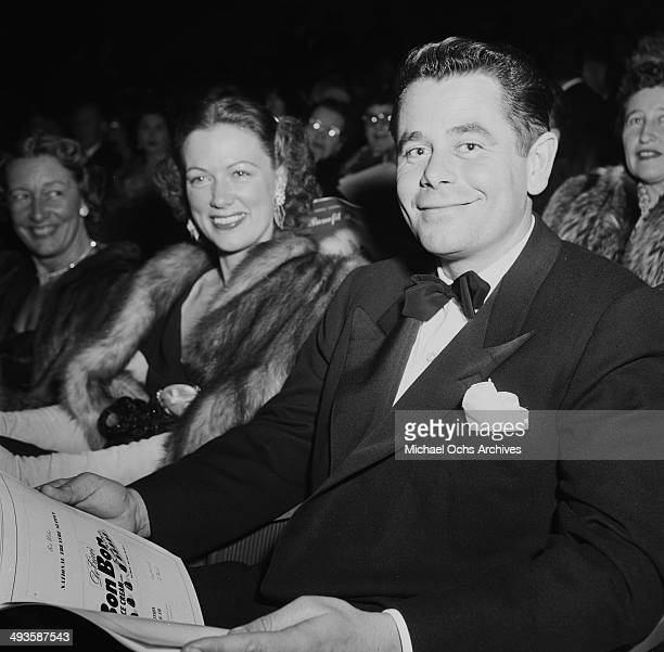 Actor Glenn Ford and Eleanor Powell attend the premier of Pandora and the Flying Dutchman in Los Angeles California