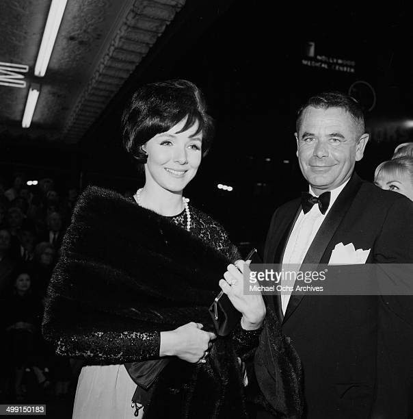 Actor Glenn Ford and wife actress Kathryn Hays attend at party in Los Angeles California