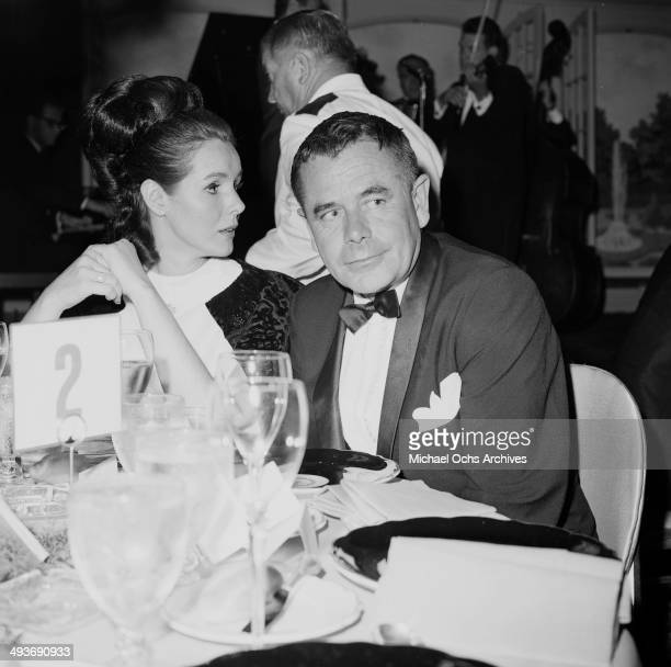 Actor Glenn Ford and wife actress Kathryn Hays attend the premier party for The Bible in Los Angeles California