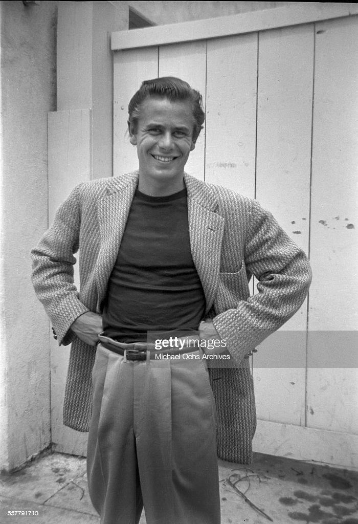 Actor Glenn Ford smiles as he poses in Los Angeles, California.