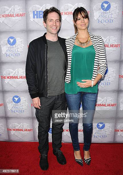 Actor Glenn Howerton and actress Jill Latiano attend the premiere of 'The Normal Heart' at The Writers Guild Theatre on May 19 2014 in Beverly Hills...