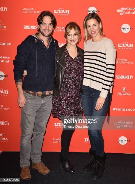 Actor Glenn Howerton director Stephanie Soechtig and actor Jill Howerton attend the 'The Devil We Know' Premiere during the 2018 Sundance Film...