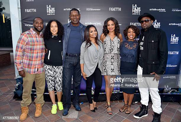 Actor Glenndon Chatman director Gina PrinceBythewood and actors Dennis Haysbert Kyla Pratt Sanaa Lathan Alfre Woodard and Omar Epps attend the 'Love...