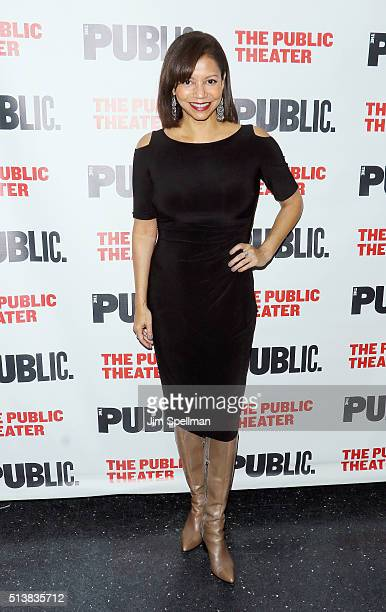 Actor Gloria Reuben attends the 'Hungry' opening night at The Public Theater on March 4 2016 in New York City