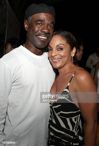 Actor Glynn Turman and festival Executive Director Jasmine Guy attend the opening night reception of Turks and Caicos International Film Festival at...
