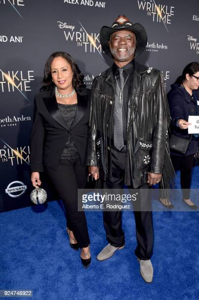 Actor Glynn Turman and guest arrives at the world premiere of Disney's 'A Wrinkle in Time' at the El Capitan Theatre in Hollywood CA Feburary 26 2018