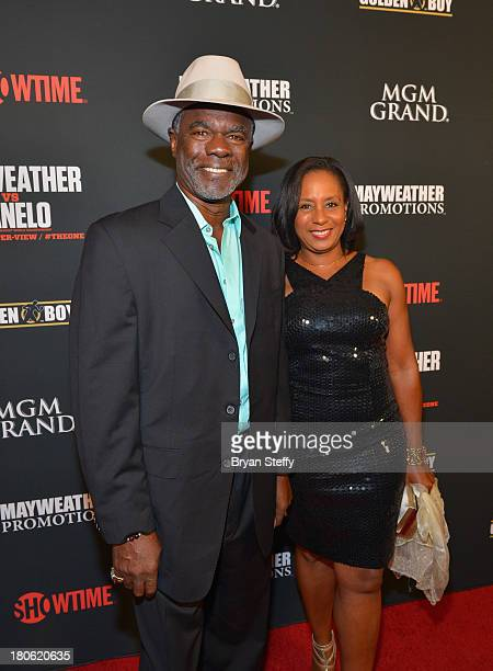 Actor Glynn Turman and his wife JoAnn Allen arrive at the MGM Grand Garden Arena for the Floyd Mayweather Jr vs Canelo Alvarez boxing match on...