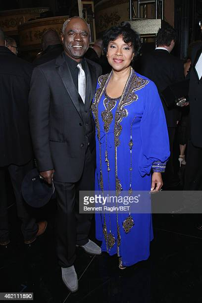Actor Glynn Turman and Honoree Phylicia Rashad pose backstage during 'The BET Honors' 2015 at Warner Theatre on January 24 2015 in Washington DC