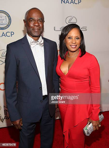 Actor Glynn Turman and JoAnn Allen attend the 46th NAACP Image Awards presented by TV One at Pasadena Civic Auditorium on February 6 2015 in Pasadena...
