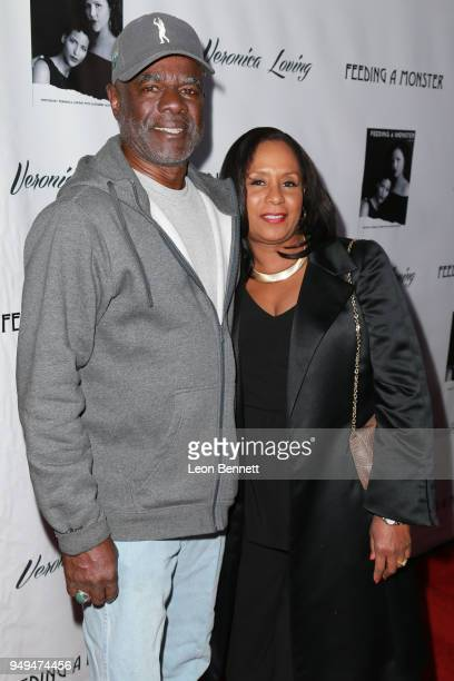 Actor Glynn Turman and wife JoAnn Allen attends the Opening Premiere Cocktail Hour Of New Stage Play Feeding A Monster at The Hudson Theater on April...
