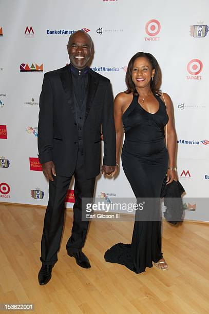 Actor Glynn Turman arrives with his wife JoAnn Allen to attend 'An Artful Evening At CAAM' at California African American Museum on October 6 2012 in...