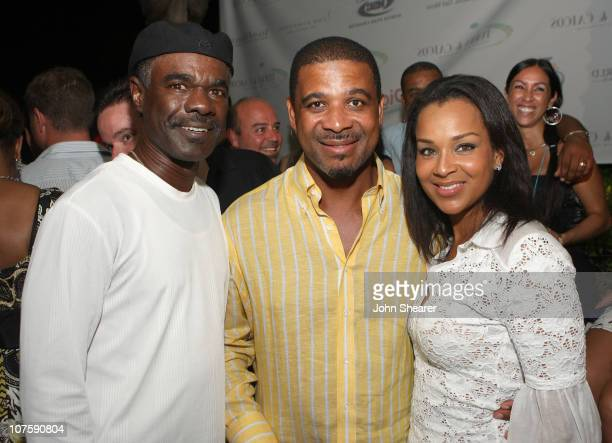 Actor Glynn Turman Premier Dr Michael E Misick and First Lady LisaRaye Misick attend the opening night reception of Turks and Caicos International...