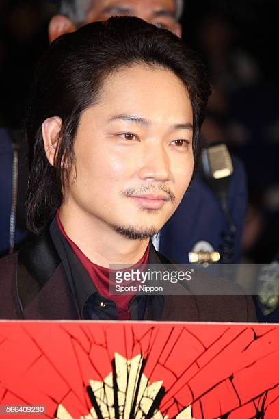 Actor Go Ayano attends opening day greeting of the 'Twisted Justice' on April 25 2016 in Tokyo Japan