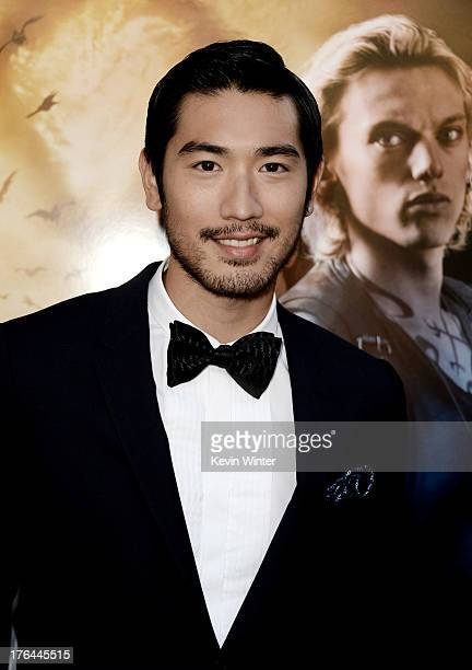 Actor Godfrey Gao arrives at the premiere of Screen Gems Constantin Films' The Mortal Instruments City Of Bones at the Cinerama Dome Theatre on...