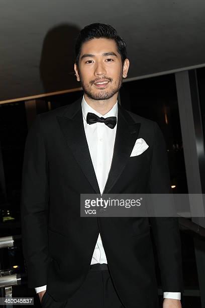 Actor Godfrey Gao attends a charity dinner at Four Seasons Hotel on November 25 2013 in Hong Kong Hong Kong