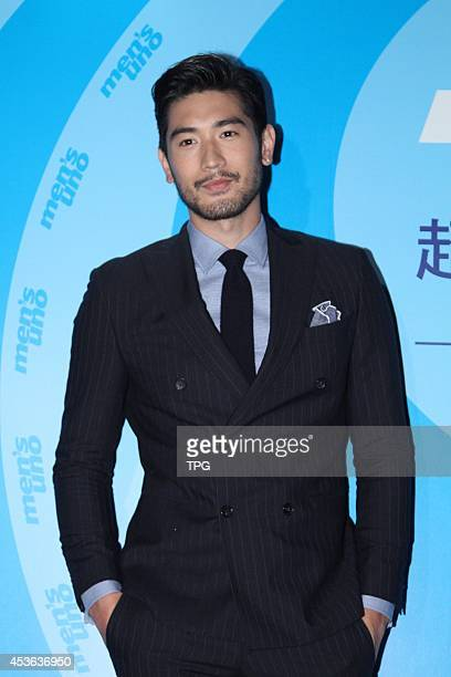Actor Godfrey Gao attends a model competition held by Men's Magazine UNO on Thursday August 142014 in TaipeiChina