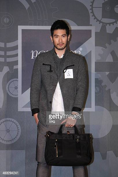 Actor Godfrey Gao attends commercial activity on Monday December 22013 in TaipeiChina