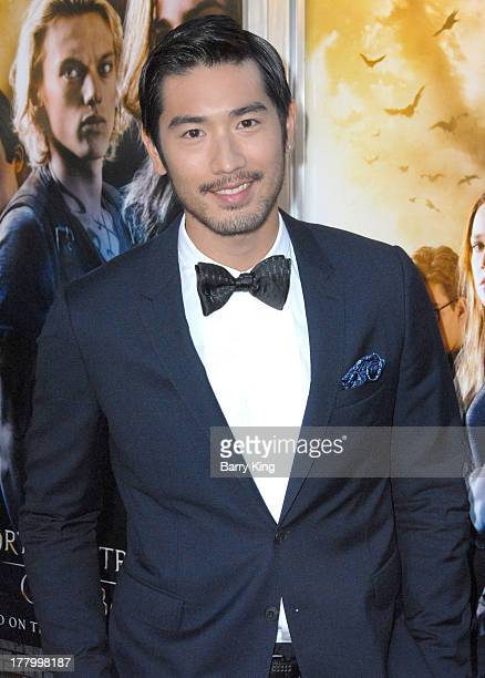 Actor Godfrey Gao attends the premiere of The Mortal Instruments City Of Bones on August 12 2013 at ArcLight Cinemas Cinerama Dome in Hollywood...