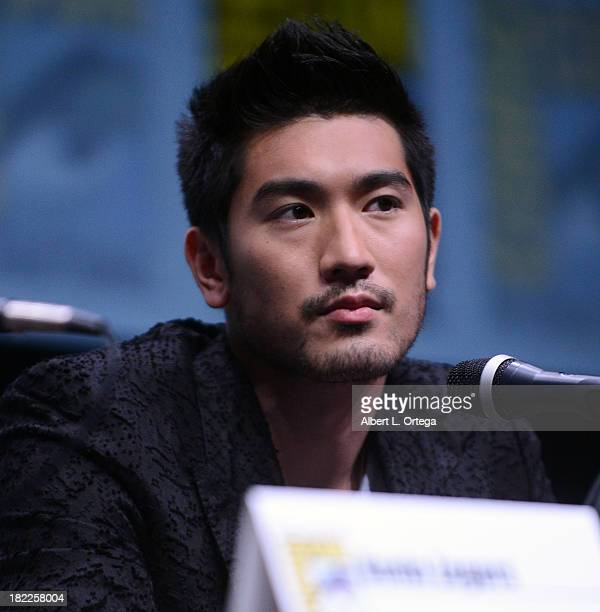Actor Godfrey Gao attends The Sony and Screen Gems Panelsl as part of ComicCon International 2013 held at San Diego Convention Center on Friday July...
