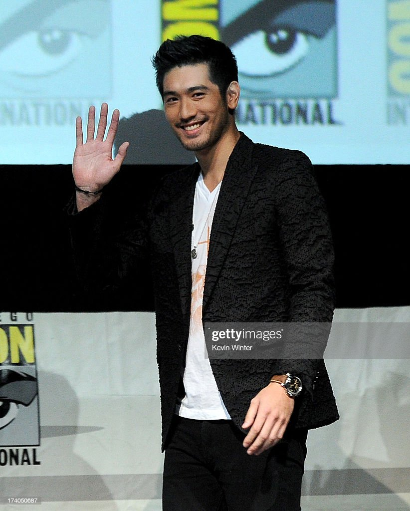 Actor Godfrey Gao speaks onstage at the Sony and Screen Gems panel for 'The Mortal Instruments: City of Bones' during Comic-Con International 2013 at San Diego Convention Center on July 19, 2013 in San Diego, California.