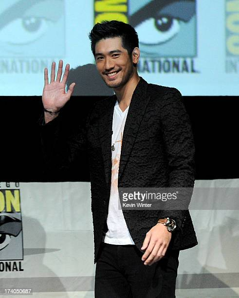 Actor Godfrey Gao speaks onstage at the Sony and Screen Gems panel for The Mortal Instruments City of Bones during ComicCon International 2013 at San...