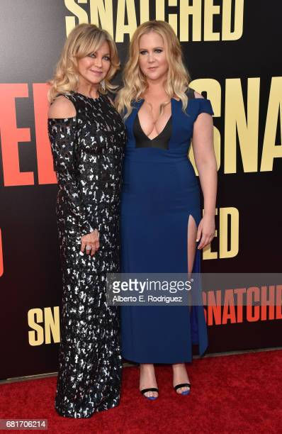 Actor Goldie Hawn and actor/executive producer Amy Schumer attend the premiere of 20th Century Fox's Snatched at Regency Village Theatre on May 10...