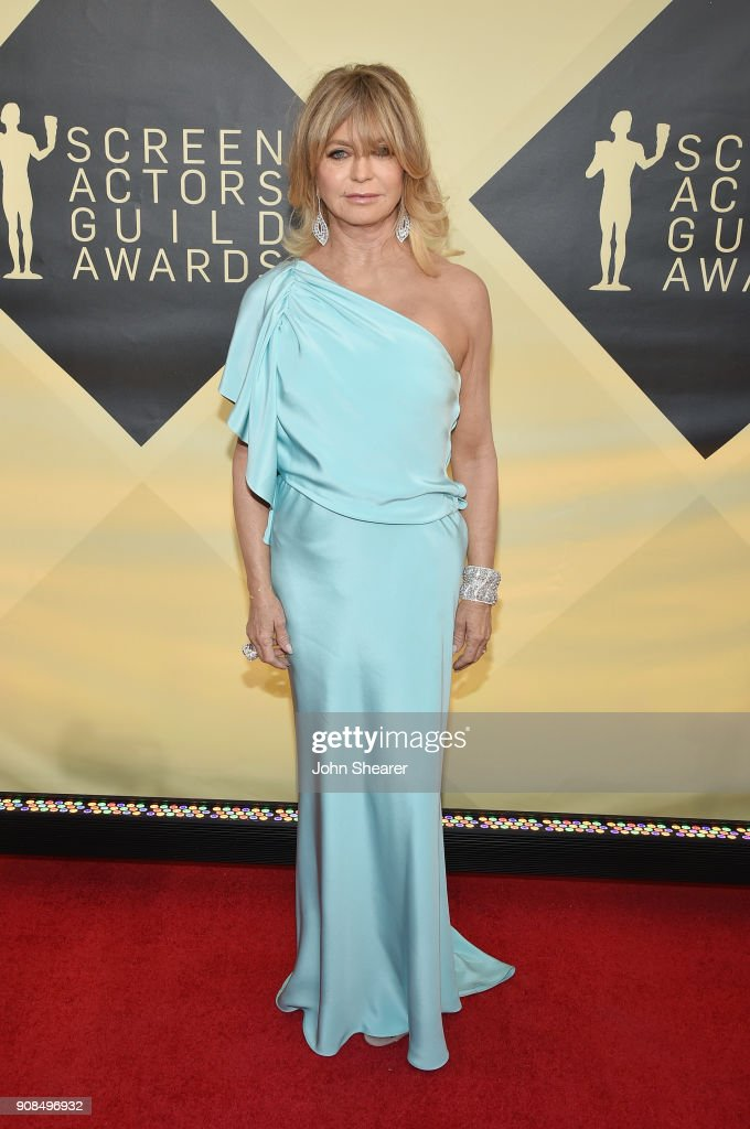 Actor Goldie Hawn attends the 24th Annual Screen Actors Guild Awards at The Shrine Auditorium on January 21, 2018 in Los Angeles, California.