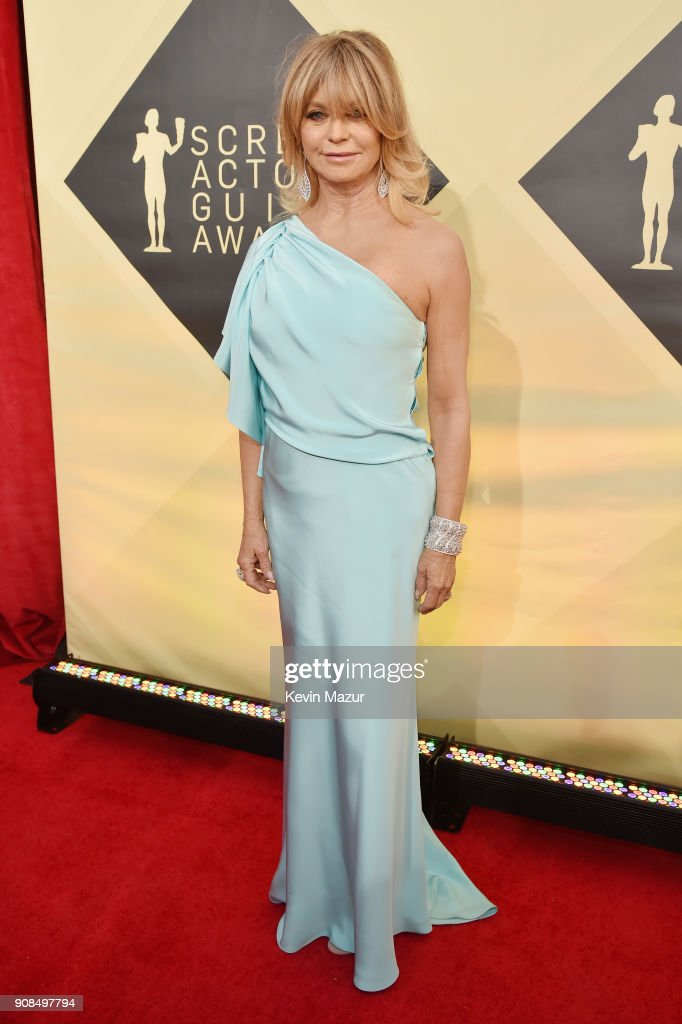 Actor Goldie Hawn attends the 24th Annual Screen Actors Guild Awards at The Shrine Auditorium on January 21, 2018 in Los Angeles, California. 27522_007