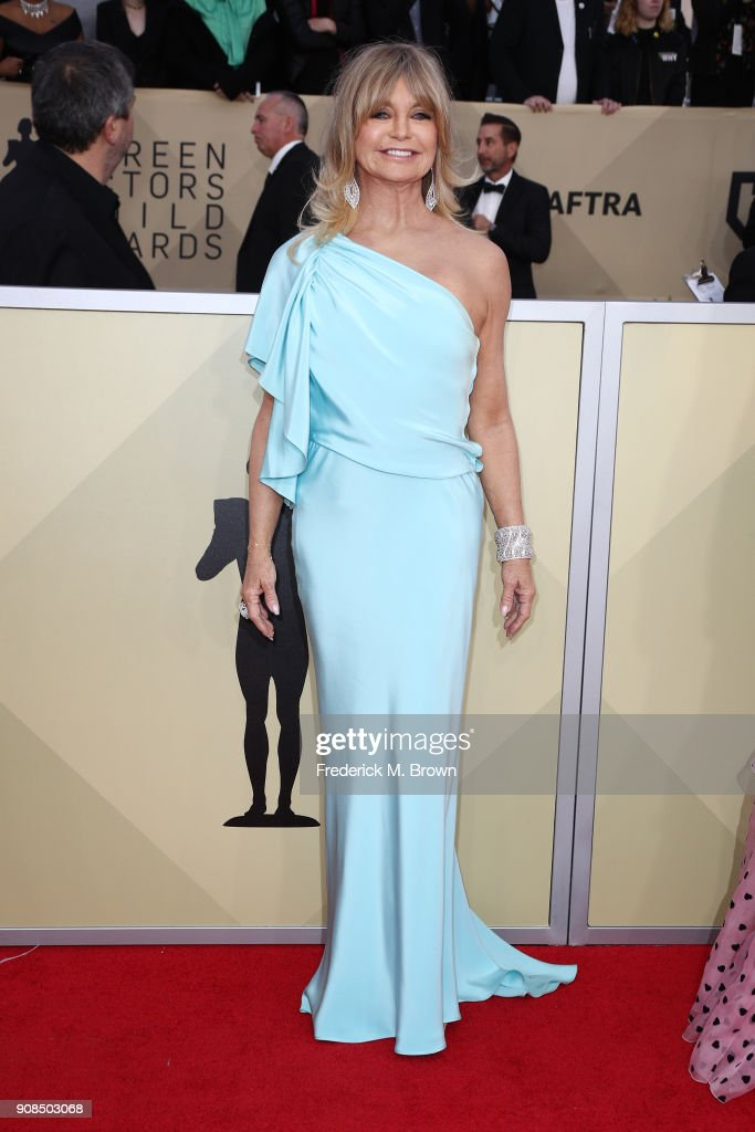 Actor Goldie Hawn attends the 24th Annual Screen Actors Guild Awards at The Shrine Auditorium on January 21, 2018 in Los Angeles, California. 27522_017