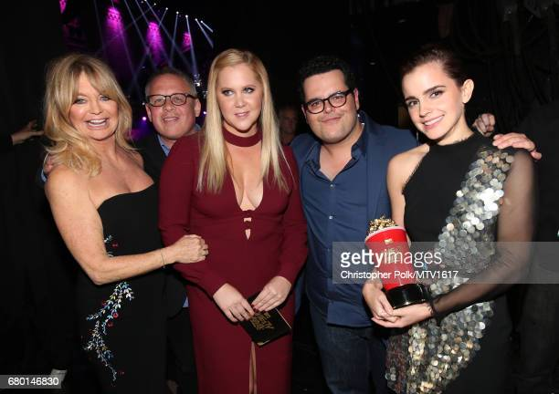 Actor Goldie Hawn Director Bill Condon actors Amy Schumer Josh Gad and Emma Watson attend the 2017 MTV Movie And TV Awards at The Shrine Auditorium...