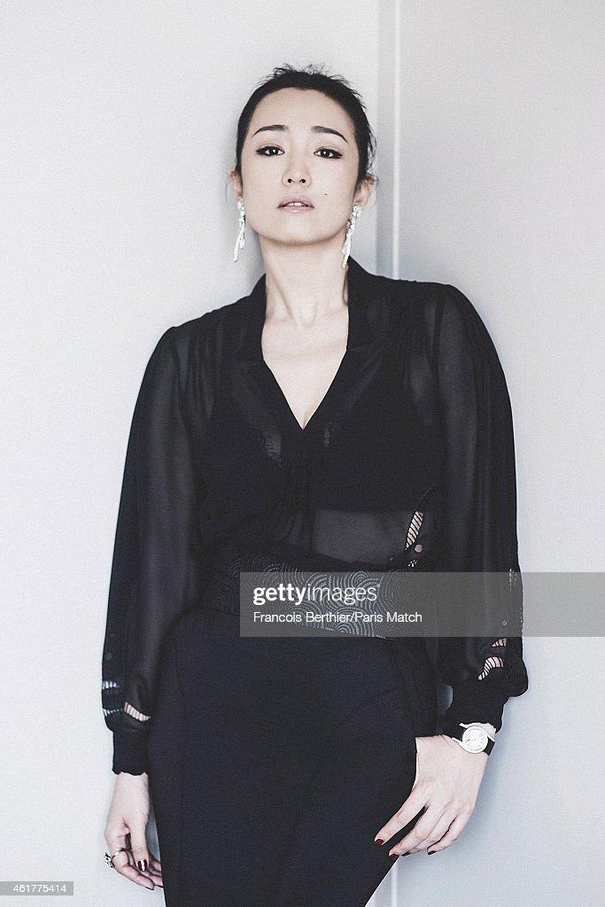 Gong Li, Paris Match Issue 3421, December 17, 2014