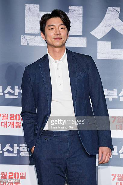 Actor Gong Yoo attends the press conference for Train To Busan at Nine Tree on June 21 2016 in Seoul South Korea The film will on July 20 2016 in...