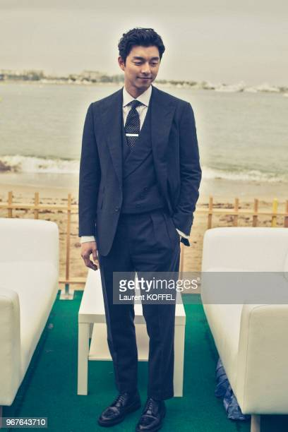Actor Gong Yoo poses during a portrait session on May 14 2016 in Cannes France