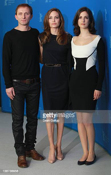 Actor Goran Kostic director Angelina Jolie and actress Zana Marjanovic attend the In The Land Of Blood And Honey Photocall during day three of the...