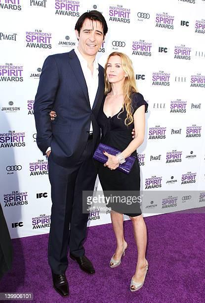 Actor Goran Visnjic and Ivana Vrdoljak arrive at the 2012 Film Independent Spirit Awards at Santa Monica Pier on February 25, 2012 in Santa Monica,...