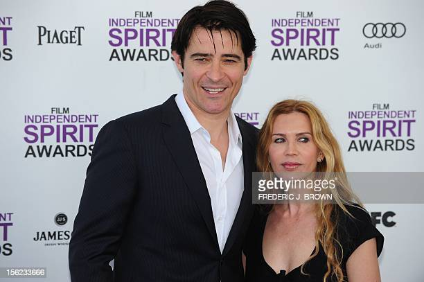 Actor Goran Visnjic and Ivana Vrdoljak arrive on the red carpet on February 25, 2012 for the Independent Spirit Awards in Santa Monica, California....