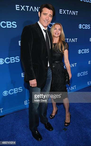 """Actor Goran Visnjic and Ivana Vrdoljak attend Premiere Of CBS Television Studios & Amblin Television's """"Extant"""" at California Science Center on June..."""