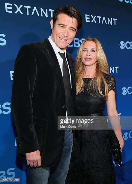 Actor Goran Visnjic and Ivana Vrdoljak attend Premiere Of CBS Television Studios Amblin Television's Extant at California Science Center on June 16...