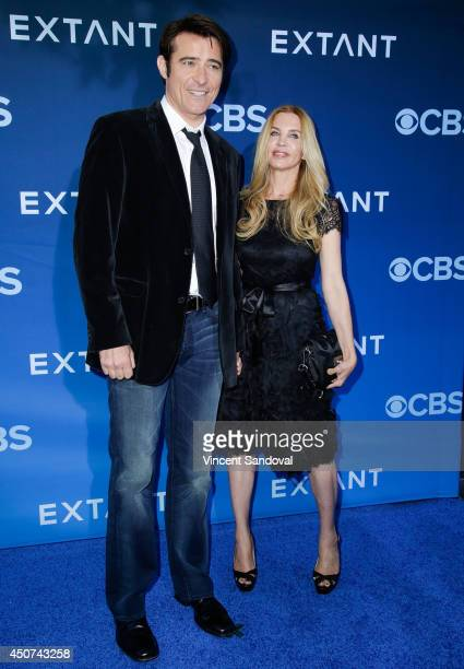 """Actor Goran Visnjic and Ivana Vrdoljak attend the Los Angeles premiere of """"Extant"""" at Samuel Oschin Space Shuttle Endeavour Display Pavilion on June..."""