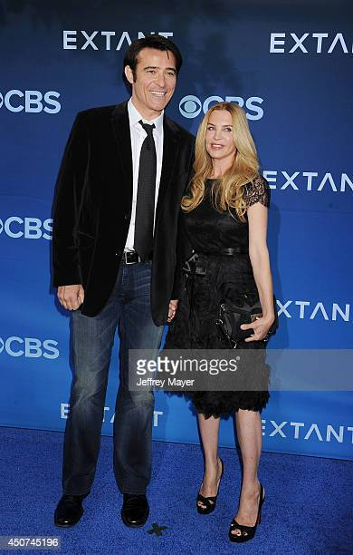 Actor Goran Visnjic and Ivana Vrdoljak attend the Premiere Of CBS Films' 'Extant' at California Science Center on June 16, 2014 in Los Angeles,...