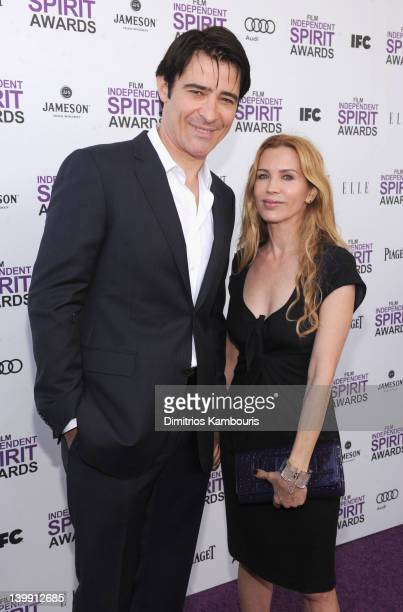 Actor Goran Visnjic and Ivana Vrdoljak with Jameson prior to the 2012 Film Independent Spirit Awards at Santa Monica Pier on February 25, 2012 in...