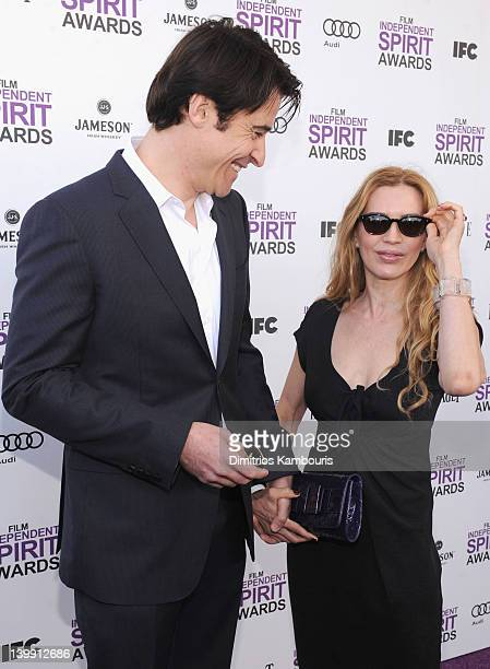 Actor Goran Visnjic and Ivana Vrdoljak with Jameson prior to the 2012 Film Independent Spirit Awards at Santa Monica Pier on February 25 2012 in...