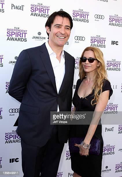 Actor Goran Visnjic and wife Ivana Vrdoljak arrive at the 2012 Film Independent Spirit Awards at Santa Monica Pier on February 25, 2012 in Santa...