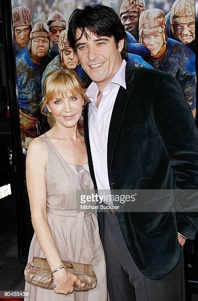 """Actor Goran Visnjic and wife Ivana Vrdoljak arrive to the premiere of Universal Pictures' """"Leatherheads"""" held at Grauman's Chinese Theatre on March..."""
