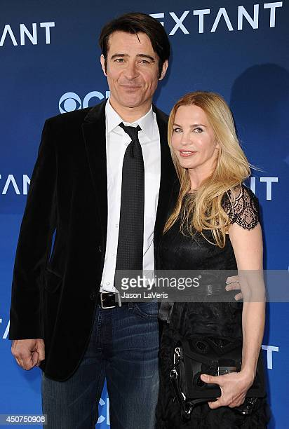 """Actor Goran Visnjic and wife Ivana Vrdoljak attend the premiere of """"Extant"""" at California Science Center on June 16, 2014 in Los Angeles, California."""