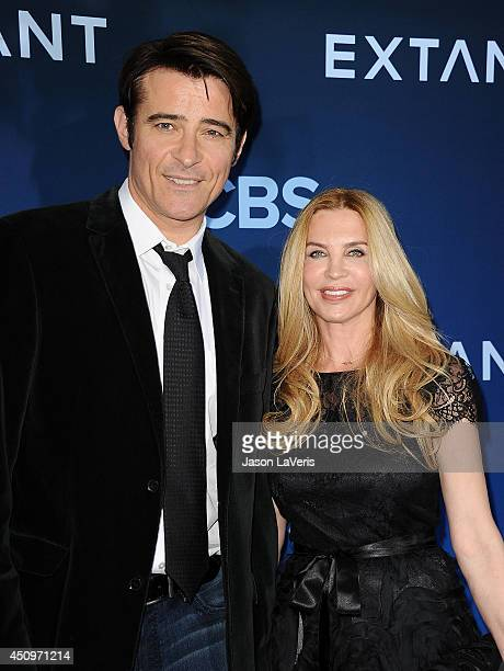 Actor Goran Visnjic and wife Ivana Vrdoljak attend the premiere of Extant at California Science Center on June 16 2014 in Los Angeles California