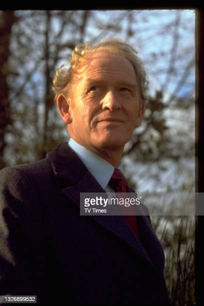 Actor Gordon Jackson in character as George Cowley in action/adventure series The Professionals, circa 1979.