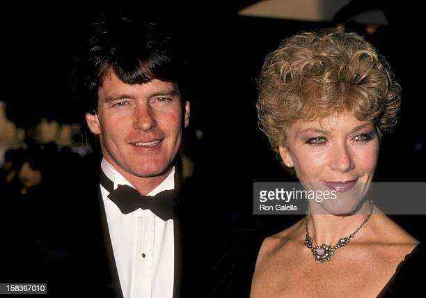 Actor Gordon Thomson and actress Linda Thorson attending 12th Annual People's Choice Awards on March 11 1986 at the Santa Monica Civic Auditorium in...