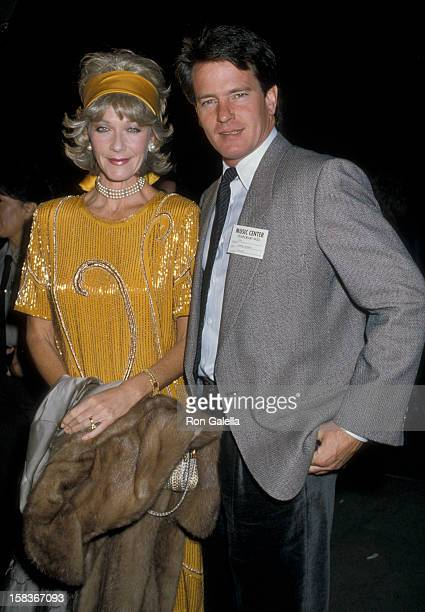 Actor Gordon Thomson and actress Linda Thorson attending 20th Anniversary Gala of the National Organization for Women on December 1 1986 at the...